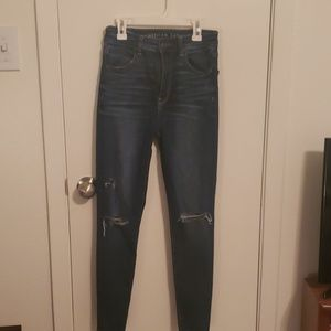 American Eagle Super Stretch Ripped Jeggings
